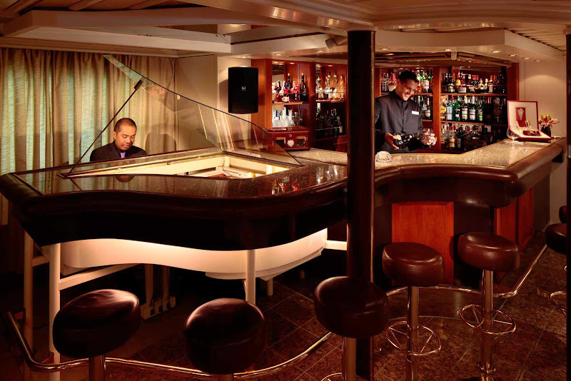 Gather around the Piano Bar and meet new people during your SeaDream sailing.