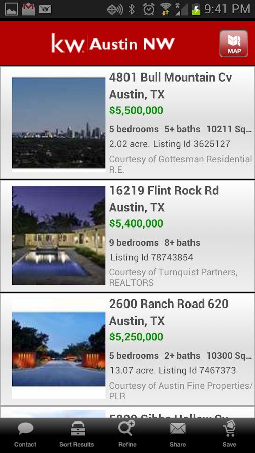 Keller Williams Realty Search - screenshot