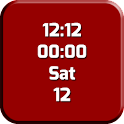 Clock Red and White LWP icon