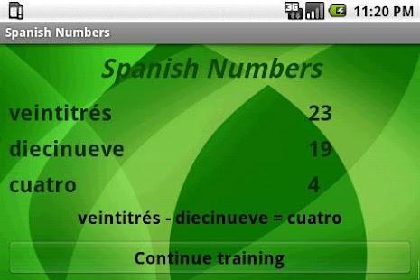 Learn Spanish Numbers- screenshot thumbnail