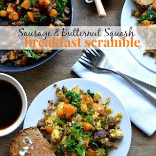 Sausage and Butternut Squash Breakfast Scramble