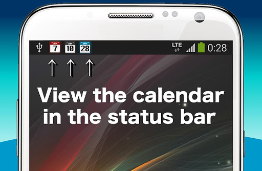 Calendar on Statusbar