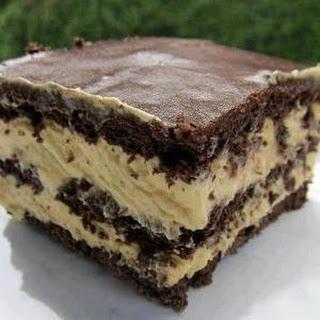 Peanut Butter Chocolate Éclair Cake