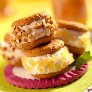 Gingersnap Ice Cream Sandwiches.