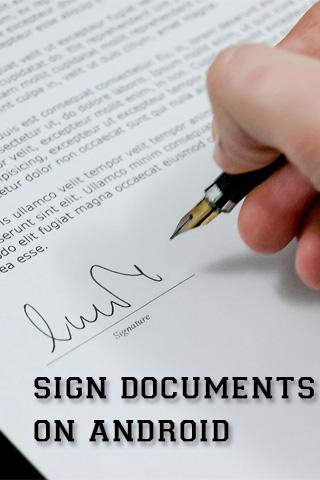 Sign Documents on Android