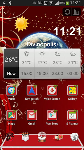 Christmas Next Launcher Theme
