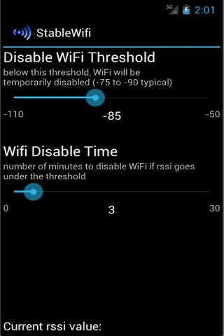 Stable WiFi - screenshot