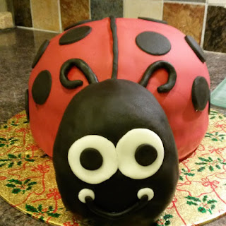 Ladybird Birthday Cake (Madeira Layer Cake with Lemon Buttercream and Raspberry Jam)