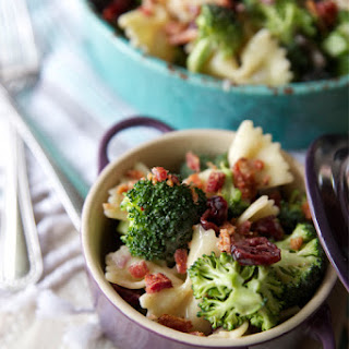 Tasty Broccoli Salad with Dried Cranberries
