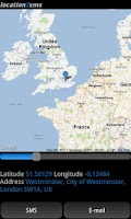 Screenshot of location2sms