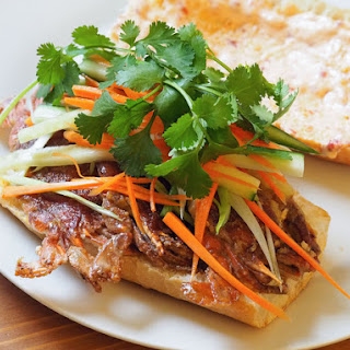 Sautéed Soft-Shell Crab Sandwiches With Pickled Vegetables, Cilantro, and Ginger-Chili Mayo
