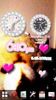 Screenshot of [Free]CUTE CUSTOM QLOCK Colors