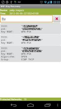 WiFi Key Recovery (needs Root) APK screenshot thumbnail 3