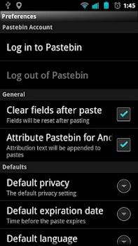 Pastebin for Android
