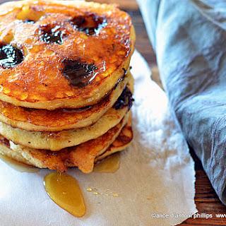Sweet Dark Cherry Buttermilk Pancakes.