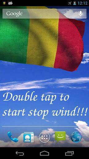 3D Mali Flag Live Wallpaper
