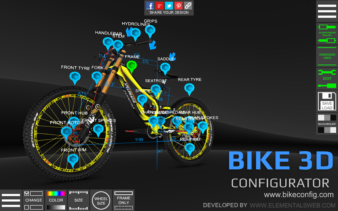 bike 3d configurator android apps on google play. Black Bedroom Furniture Sets. Home Design Ideas