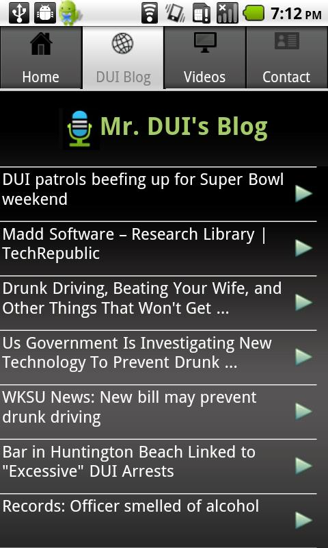 Mr DUI - screenshot