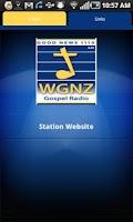 Screenshot of WGNZ Radio