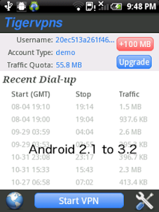 Tigervpns Android VPN - screenshot thumbnail