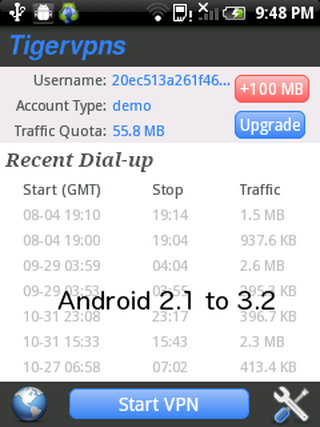 Tigervpns Android VPN 3.8 screenshot 56606