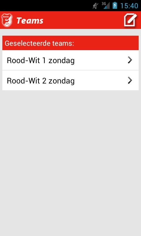Rood-Wit St. Willebrord - screenshot