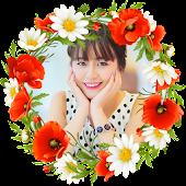 Flower Photo Frames Collage