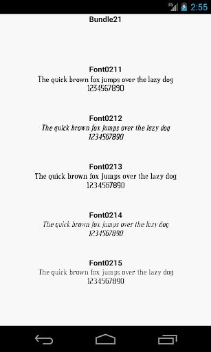 Fonts for FlipFont 21