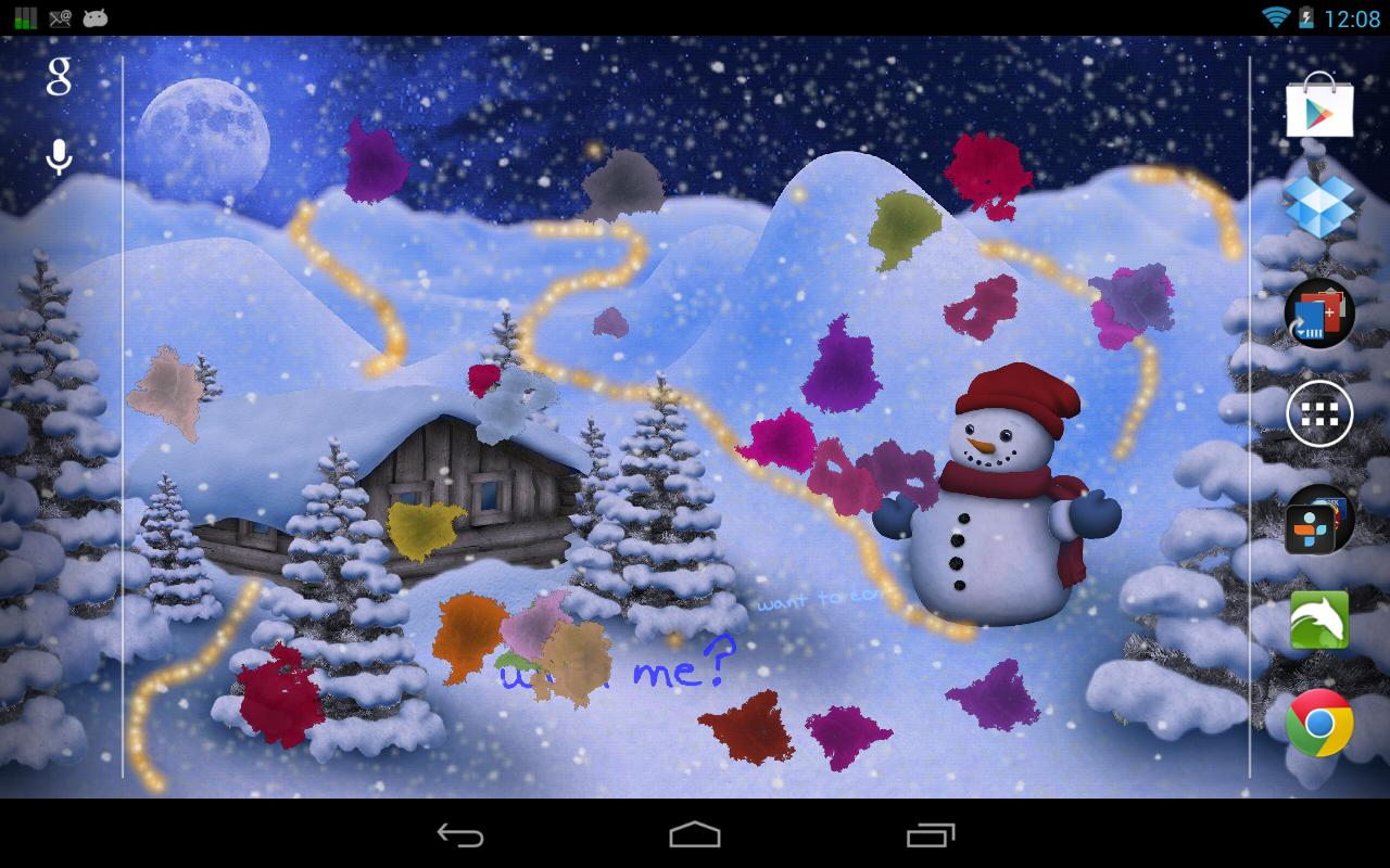 Christmas Live Wallpaper Pro - screenshot