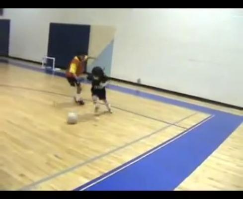 Asombrosa habilidad de fútbol