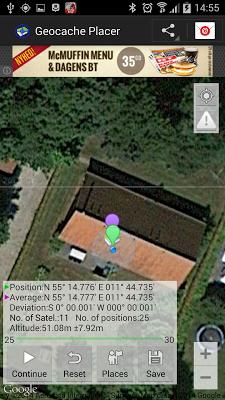 Geocache Placer - screenshot