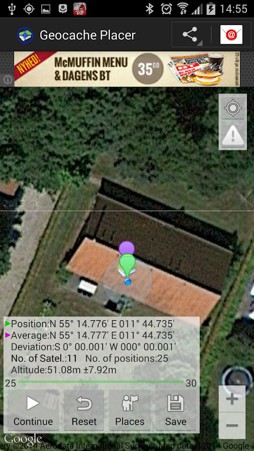 Geocache Placer- screenshot