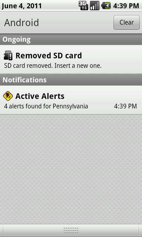 Active Alerts - Weather Alerts - screenshot