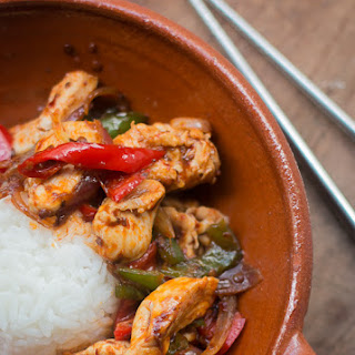 Thai Stir-Fried Chicken with Chile Jam.