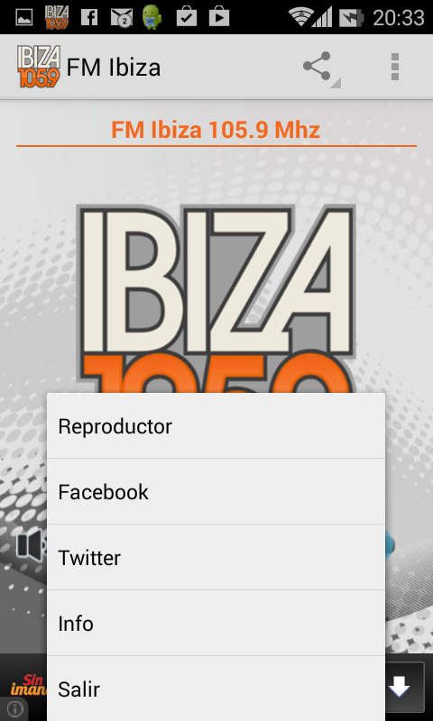 FM Ibiza 105.9 Mhz- screenshot