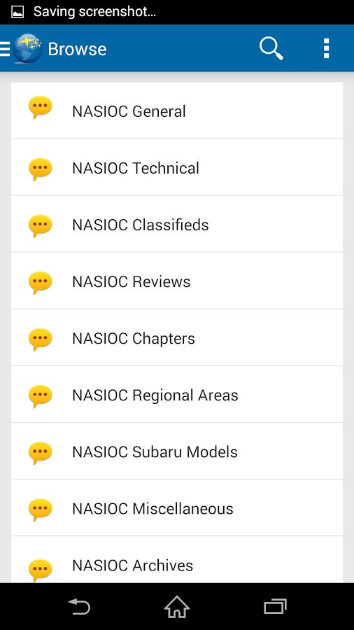NASIOC- screenshot