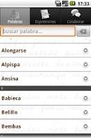 Screenshot of Palabras Canarias