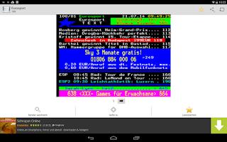 Screenshot of Videotext