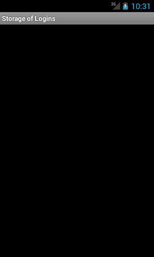 Storage of Logins