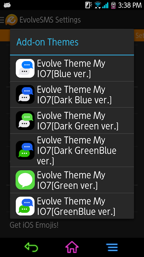 EvolveSMS - My I7[Green&Blue] - screenshot