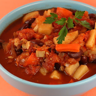Sweet Potato Chili (vegan!) Slow Cooker