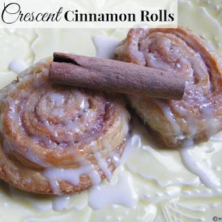 Easy Crescent Cinnamon Rolls.