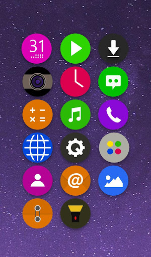 CircleFlat Theme - KK Launcher