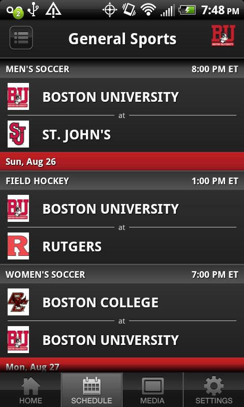 Boston University Sports - screenshot