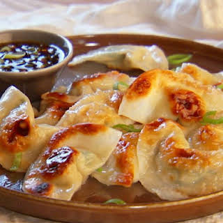 Pot Sticker Dumplings and Soy-Vinegar Sauce.