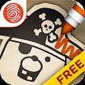 Pirate Scribblebeard Draw Free icon