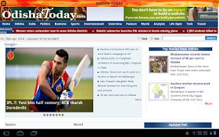 Screenshot of Odisha Khabar