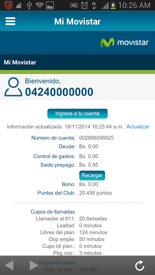 Movistar- screenshot