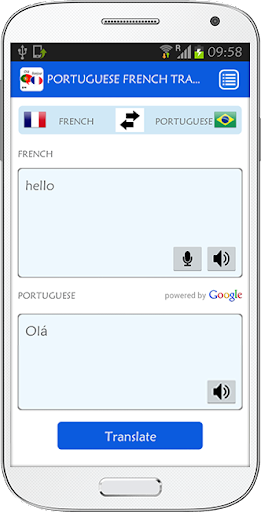 Portuguese French Translator