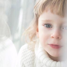 white star by Agnieszka Pogorzałek Gross - Babies & Children Child Portraits ( girl, white )